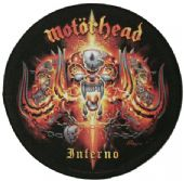Motorhead - 'Inferno' Round Giant Backpatch